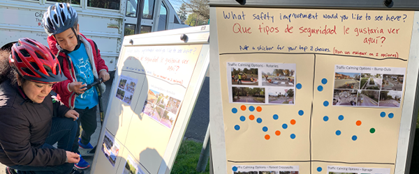 Two school community members give their feedback on safety improvements they would like to see.