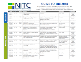 Link to download the printable guide to NITC researchers at TRB 2018