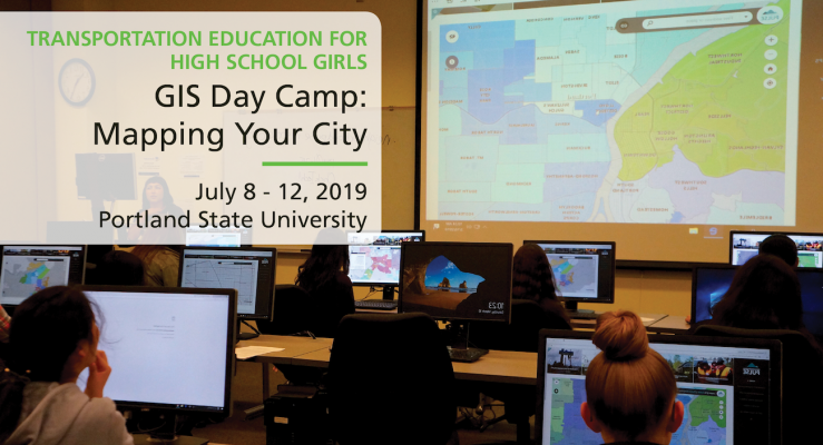 Transportation Training for High School Girls - GIS Day Camp at Portland State University