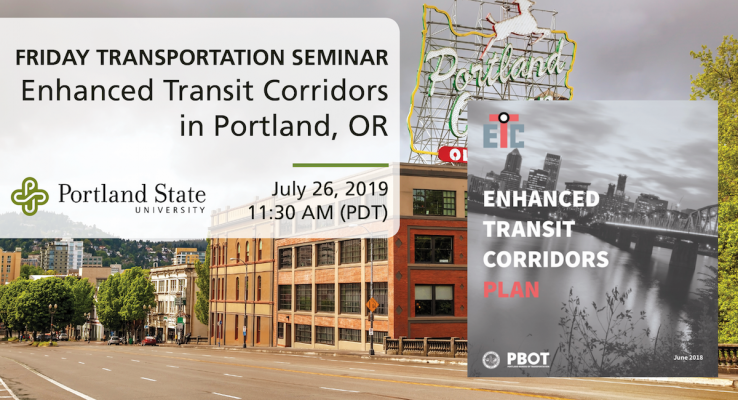 Friday Transportation Seminar at Portland State University featuring Gabe Graff, PBOT