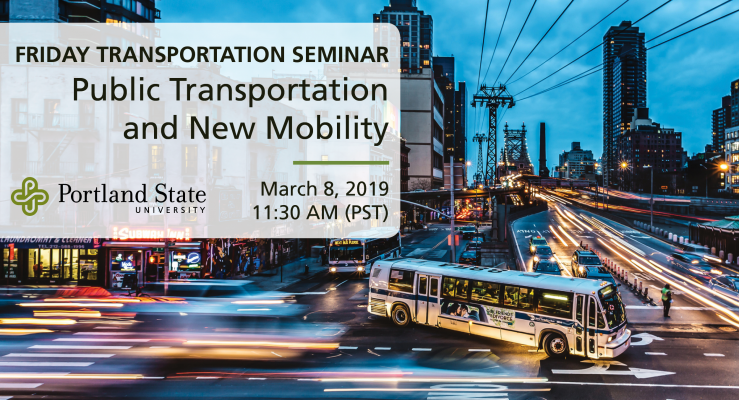 Friday Transportation Seminar at Portland State University featuring Chris Pangilinan, Uber