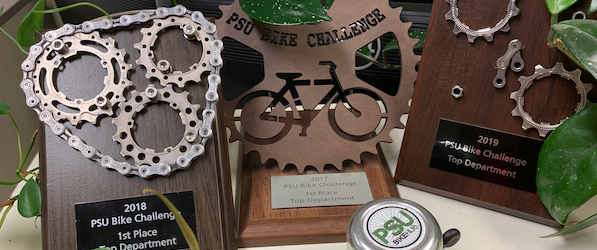 TREC awards for 2017, 2018 and 2019 bike to work month