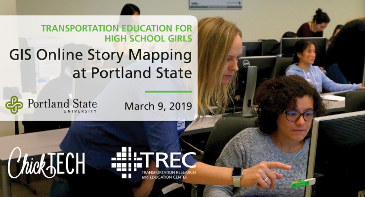 Transportation Training for High School Girls - GIS ChickTech Workshop at Portland State University