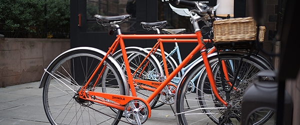Stock image of bicycles