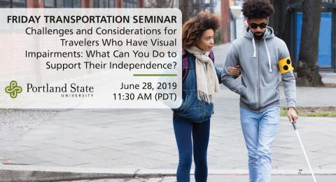 Friday Transportation Seminar at Portland State University featuring Penny Rosenblum, Department of Disability and Psychoeducational Studies, University of Arizona