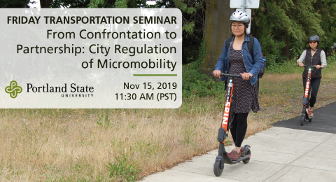 Friday Transportation Seminar at Portland State University featuring Michael Schwartz, Ride Report