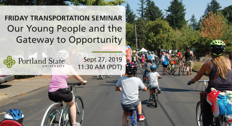 Friday Transportation Seminar at Portland State University featuring Jonnie Ling of Community Cycling Center - a PBOT Lunch n Learn partnership
